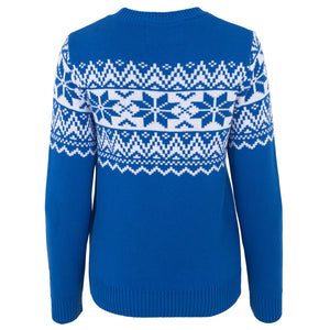 The Nordic Fairisle Blue Womens Eco Christmas Jumper