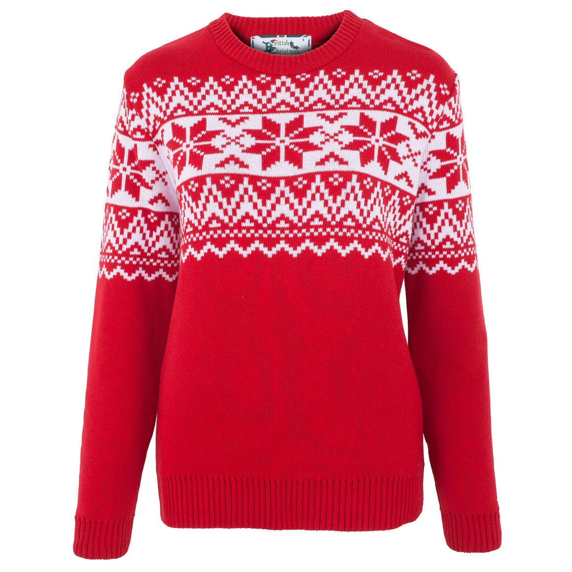 The Nordic Fairisle Red Womens Eco Christmas Jumper