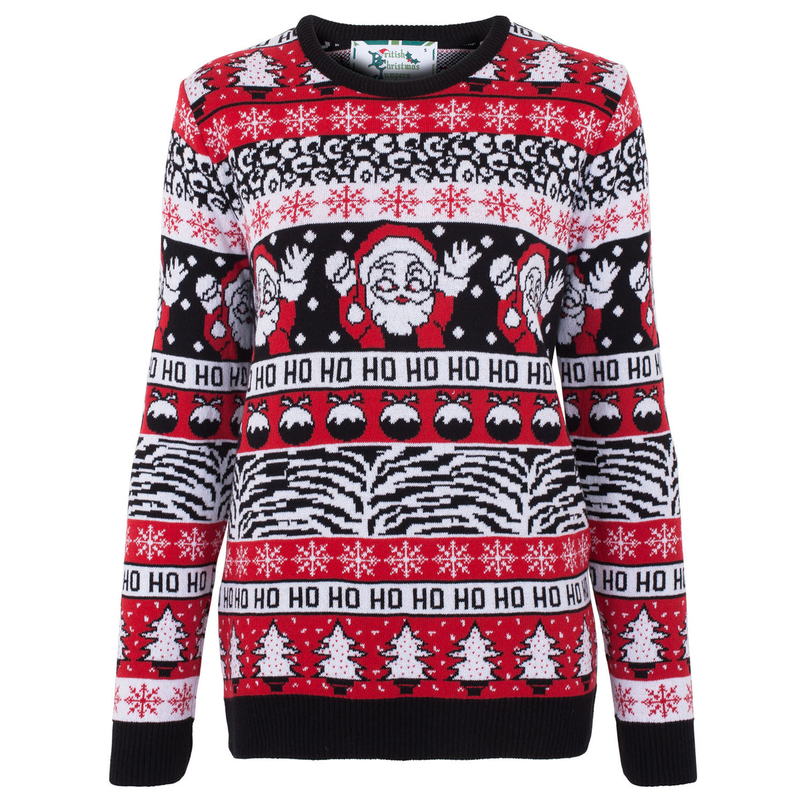 Comic Wave Womens Eco Christmas Jumper