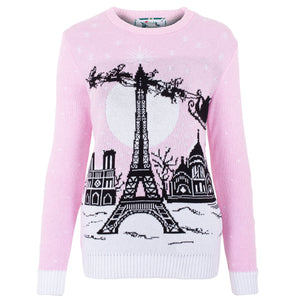 Christmas In Paris Womens Eco Christmas Jumper