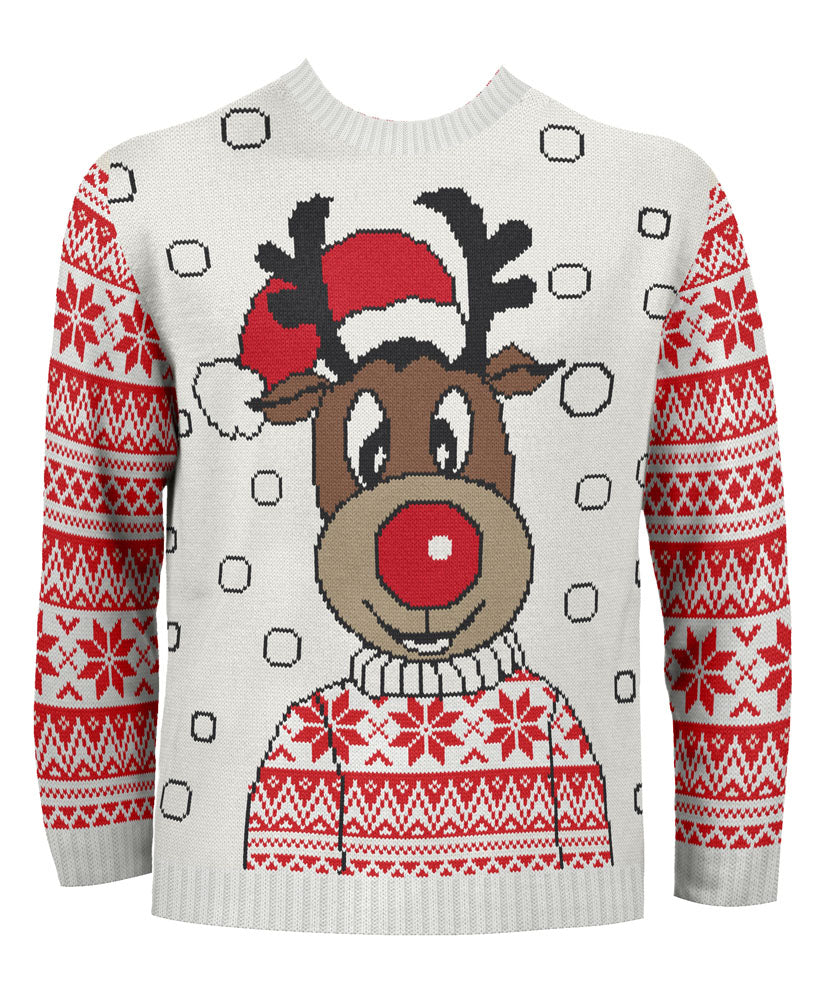 Rudy the Reindeer Kids Eco Christmas Jumper
