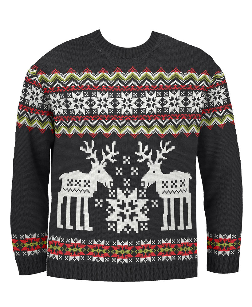 Big Reindeer Fairisle Kids Eco Christmas Jumper