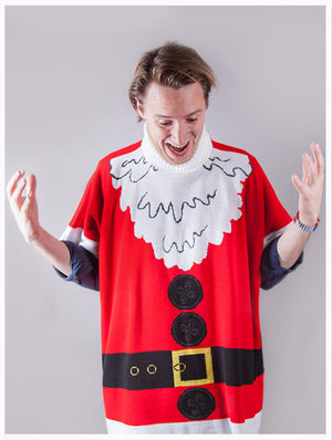 Santa Poncho -British Christmas Jumpers