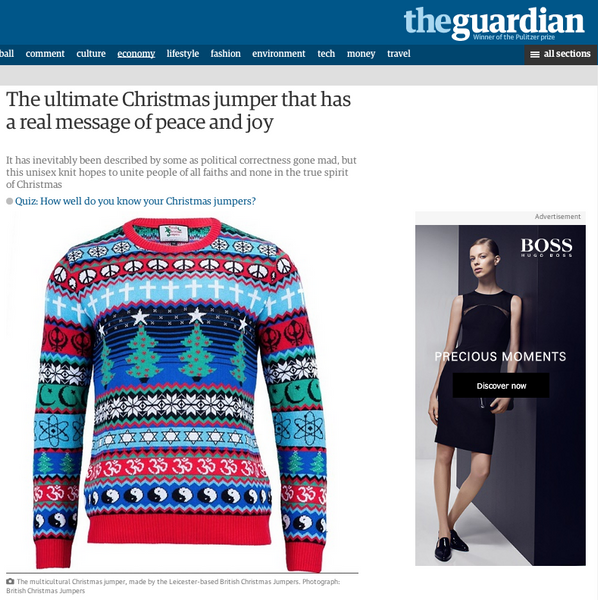 The Multicultural Christmas Jumper - Unisex - British Christmas Jumpers