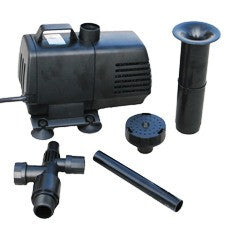 Submersible Mag Drive Pump 1350 GPH w/ Volcano Waterbell Double Volcano & Foam Jet