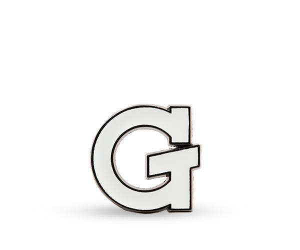 White G Enamel Pin - Grenco Science