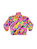 SOLD - Intense 80s Neon Ninety Eight Rainbow Explosion Ski Jacket - M / L