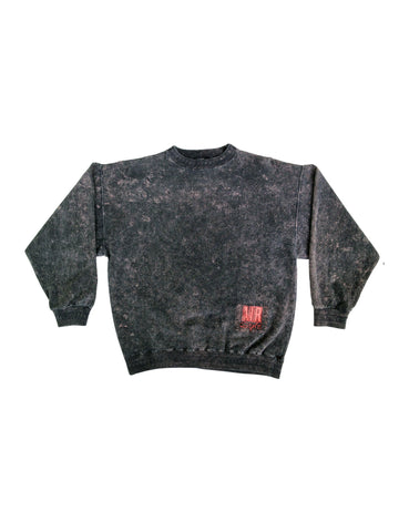 SOLD - Gnarly 80s Air Giant Acid Washed Heavy Wt. Snowboard Crewneck - L
