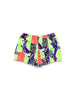 SOLD - Extreme 80s Allover Neon Surf Print Short Shorts - 30 to 36
