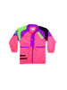 SOLD - Stellar 80s Neon Paradise Beach Club Long Windbreaker - M