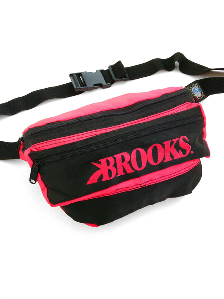 SOLD - Rare 90s Neon Brooks Extreme Activewear Fanny Pack - 26 to 42