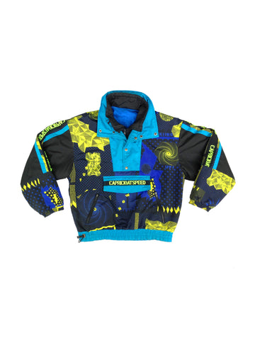 SOLD - Cosmic 80s Neon Accented Capricioat Speed Ski Jacket - L