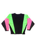 SOLD - Extreme 80s Neon Molson Canadian Rocks Crewneck Windbreaker - L