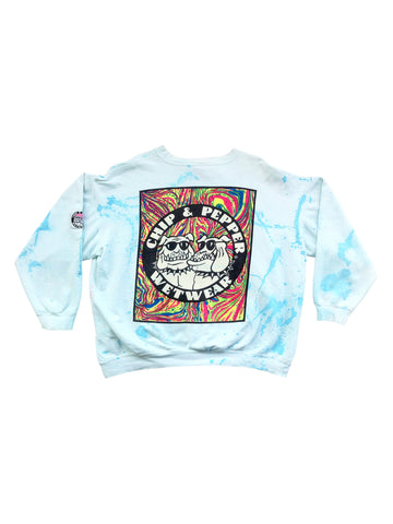 SOLD - Rare 1987 Neon Chip & Pepper Wetwear Marble Crewneck - L