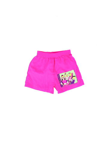 Wild 90s Neon Surf Party Nylon Shorts - 22 to 26