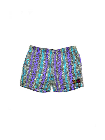 Rad 80s Allover Print Neon Tribal Dalesport Swim Trunks - 38 to 42