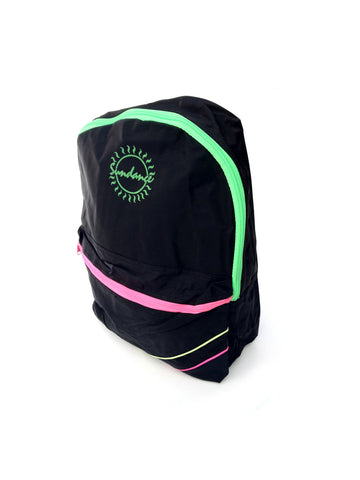 SOLD - Bodacious 90s Tri-Neon Accented Sundance Backpack