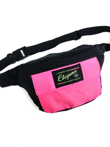 SOLD - Wicked 80s Hot Pink Elegance Sports Fanny Pack - 27 to 42
