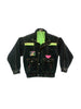SOLD - Rare 80s Neon Accented E-Z Spirit Denim Jacket - S / M