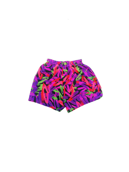SOLD - Incredible 90s Neon InSport Nylon Athletic Shorts - 24 to 30