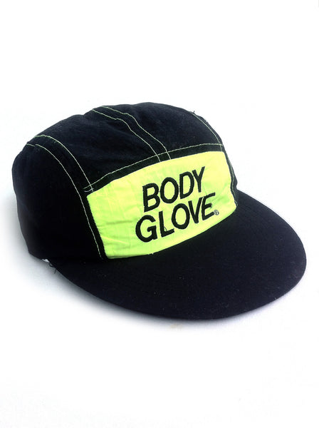 SOLD - Rare 90s Neon Body Glove 5-Panel Velcro-Back Cap