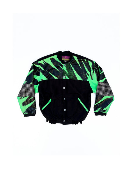 SOLD - Badass Geometric 90s Surf Fetish Jacket - One Size