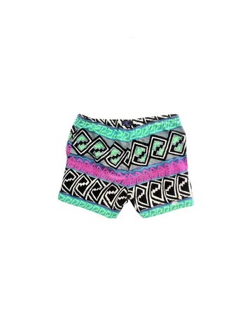 SOLD - Rad 90s Hobie Acid Trip Cotton Surf Shorts - 36 to 42