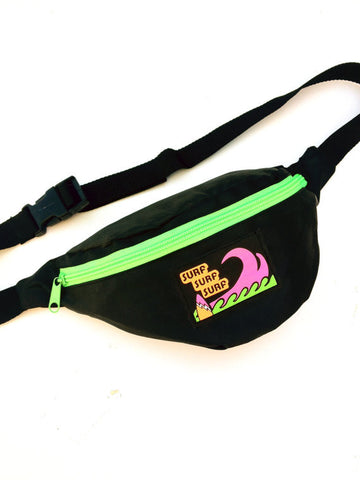 SOLD - Wicked 80s Neon Surf Triple Threat Fanny Pack - 24 to 36