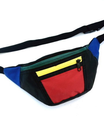 SOLD - Dope 80s Coca Cola Color Block Fanny Pack - 24 to 42