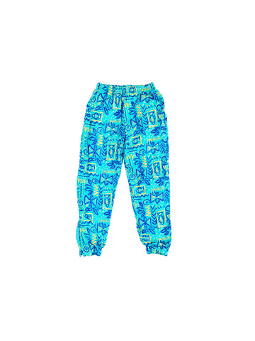 SOLD - Stellar 80s Abstract Fish Baggy Hammer Pants - 27 to 34