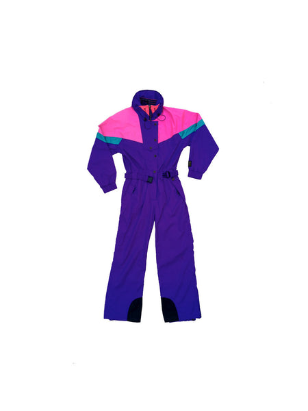 "SOLD - Rad 80s Hally Hansen's ""Northern Lights"" Snowsuit - L"