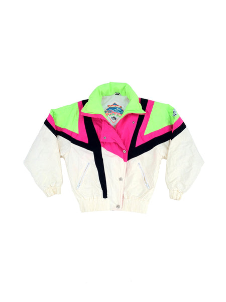 SOLD - Beautiful 80s Colorado Rockies Bi-Neon Jacket - M