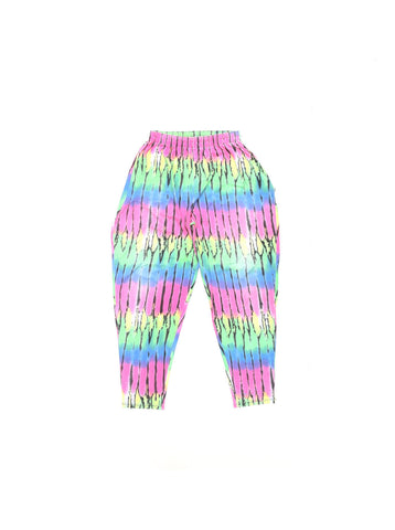 SOLD - WIld 90s Multi-Neon Fade Parachute Pants - 28 to 36