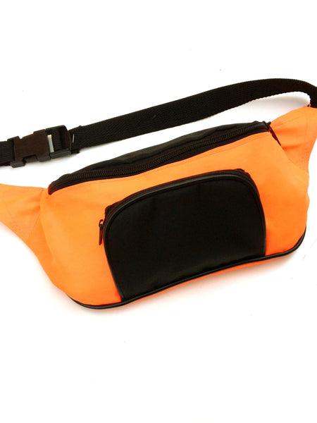 SOLD - Rad 90s Neon Orange Fanny Pack - 22 to 38