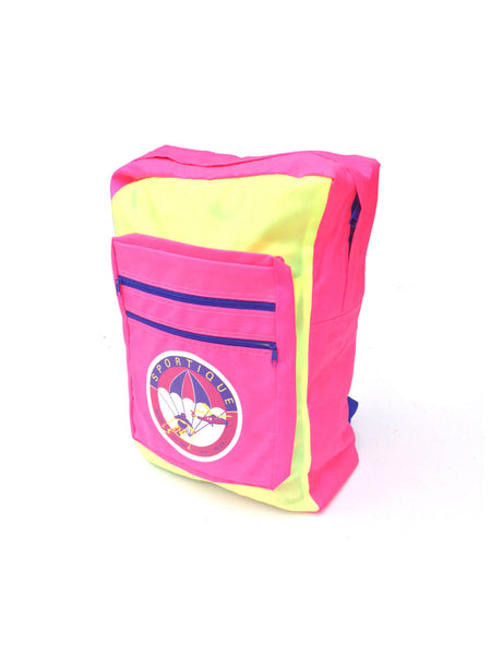 SOLD - Rad 80s Neon'd Out Ski Piz Buin Nylon Backpack