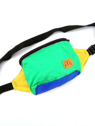 SOLD - Dope 80s Colorblock McDonalds Fanny Pack - 24 to 34