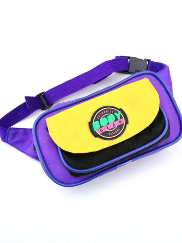 SOLD - Rad 80s Body Gear Neon Accented Fanny Pack - 24 to 34