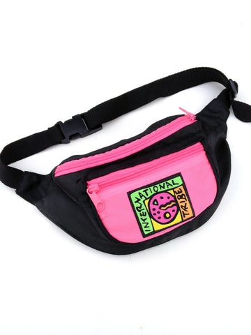 SOLD - Rad 80s Neon Tribal Surfer Fanny Pack - 24 to 38