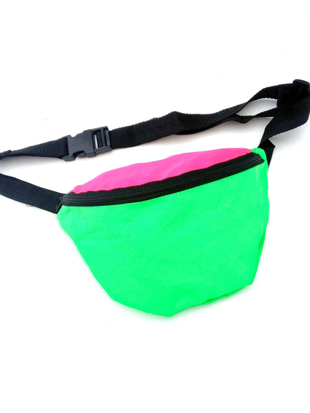 SOLD - Classic 90s Dual Neon Fanny Pack - 24 to 42