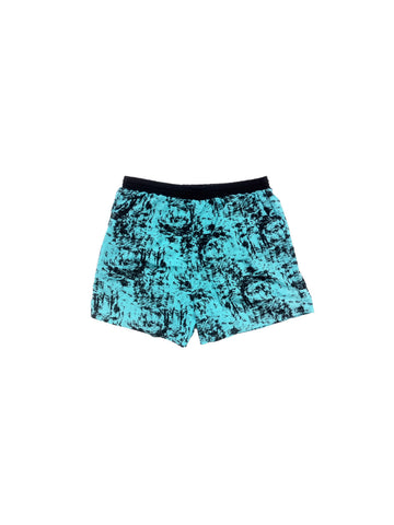 SOLD - Rad 90s Marble Static Neon Swim Trunks - 30 to 40