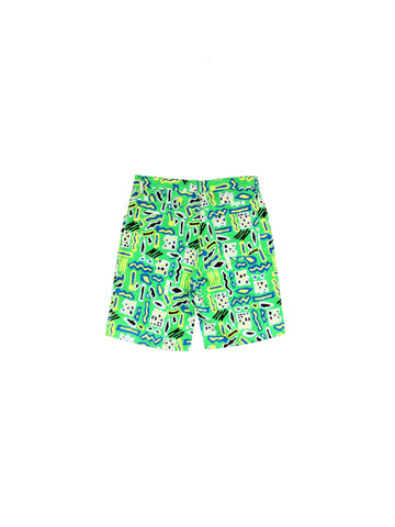 Wild 80s Neon Tribal Surf Casual Shorts - Multiple Sizes