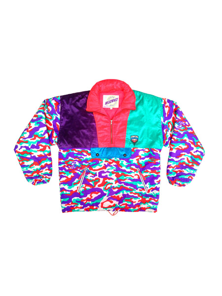 SOLD - Rare 80s Japanese Instinct Neon Camo Snowboard Jacket - L