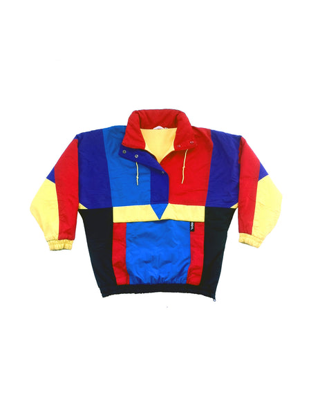 SOLD - Classic 90s Ispo Fleece-Lined Colorblock Ski Jacket - M / L