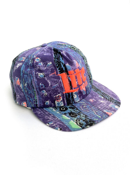 SOLD - Rad 90s Lite Beer Allover Print Tribal Snapback Cap