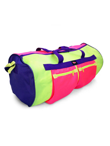 Intense 80s Dual Neon Lynx Montreal 2 ft. Travel Size Duffle Bag
