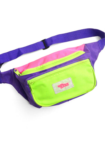 SOLD - Bodacious 80s Neon Lynx Double Neon Fanny Pack - 24 to 40