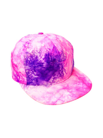 Abstract 80s Neon Dual Tone Marble Effect Snapback Cap
