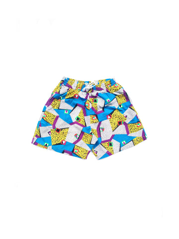 SOLD - Intense 80s Memphis Design Era Cotton Shorts - 26 to 34