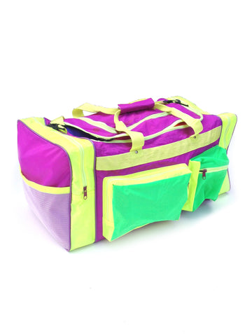 Wicked 80s Dual Neon Travel Size Duffle Bag