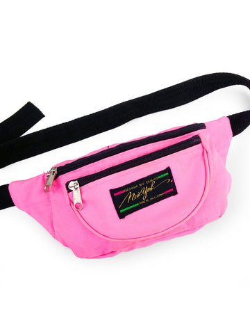 SOLD - Classic 80s Duilco New York Bright Pink Fanny Pack - 24 to 42